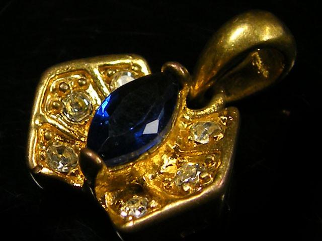 OLD WORLD AMULET PENDANT BLUE SAPPHIRE TR 456