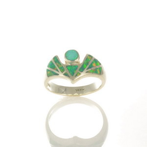 Lab Opal Inlay Ring JA104