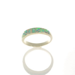 Lab Opal Inlay Ring JA103