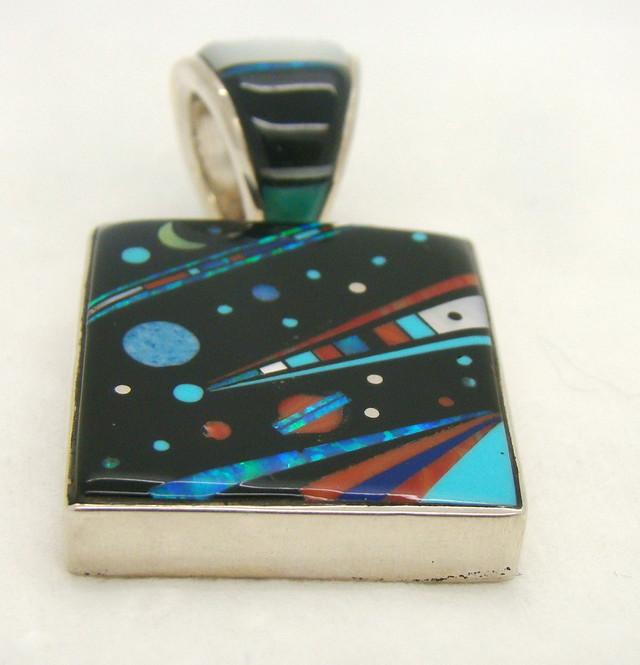 Sterling Silver Galaxy Pendant JA-283