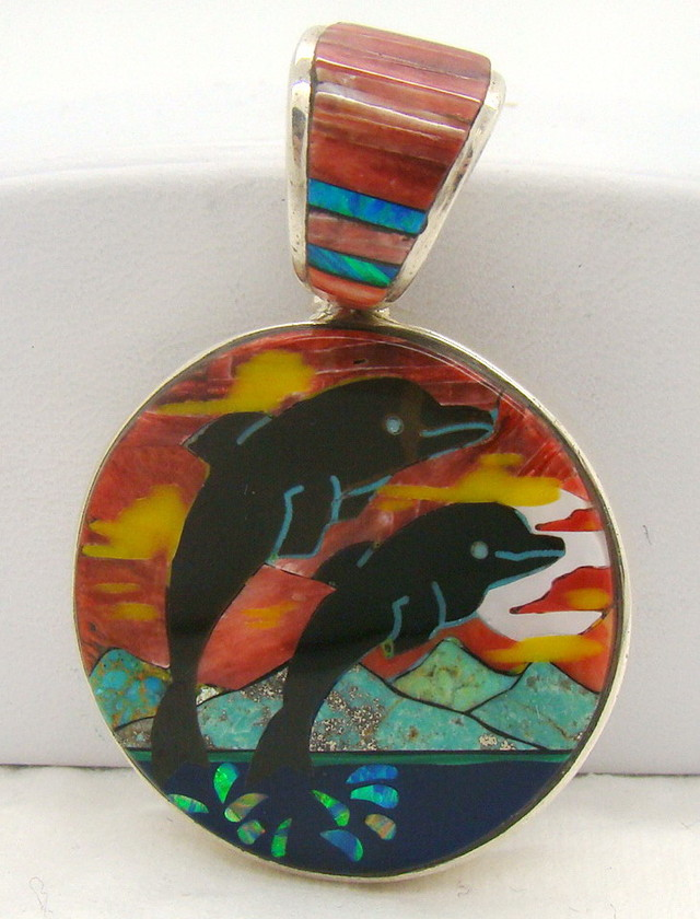 Sterling Silver Dolphin Pendant JA-285