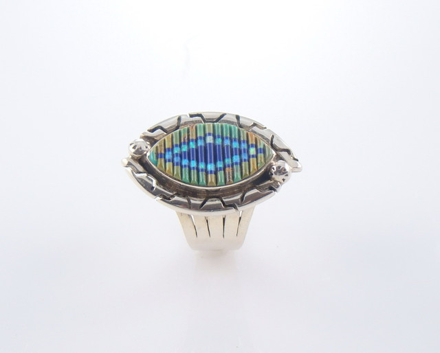 Turquoise, Lapis, & Lab Opal Sterling Silver Ring (JA-94)