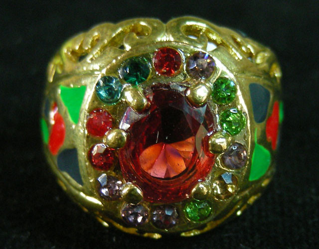 COLOURFUL ATTRACTIVE  MULTI  RING SIZE 18  11597