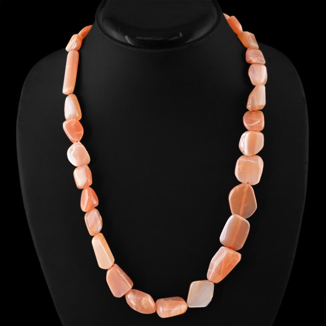 Natural 335.00 Cts Untreated Agate Beads Necklace