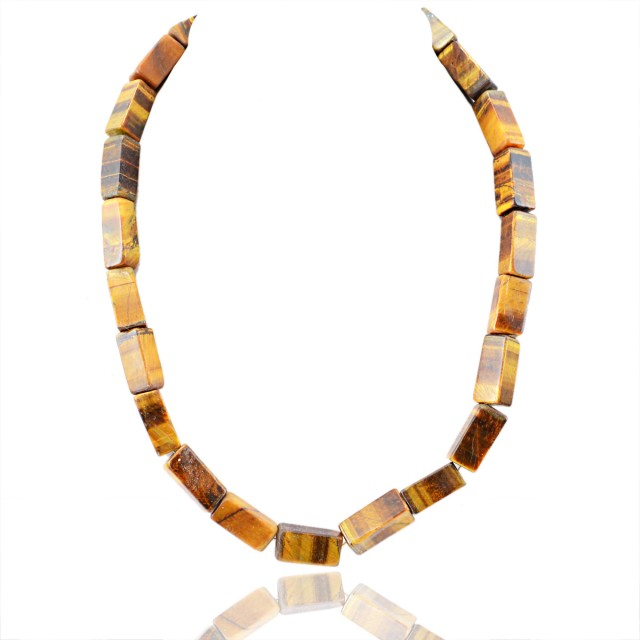 Natural 576.90 Cts Golden Tiger Eye Untreated Necklace