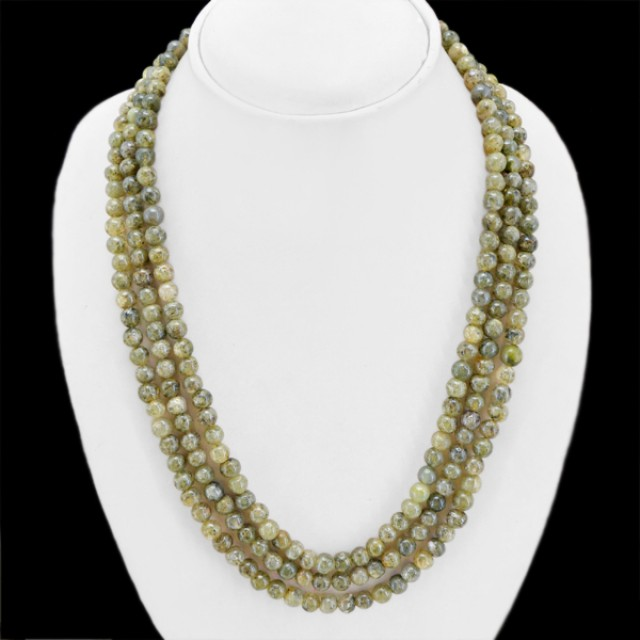 Natural 504.40 Cts Rutile Quartz Round Beads Necklace