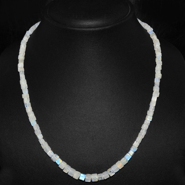 Natural 140.00 Cts White Moonstone Amazing Necklace