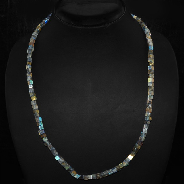 Natural 150.00 Cts Blue Color Change Labradorite Necklace