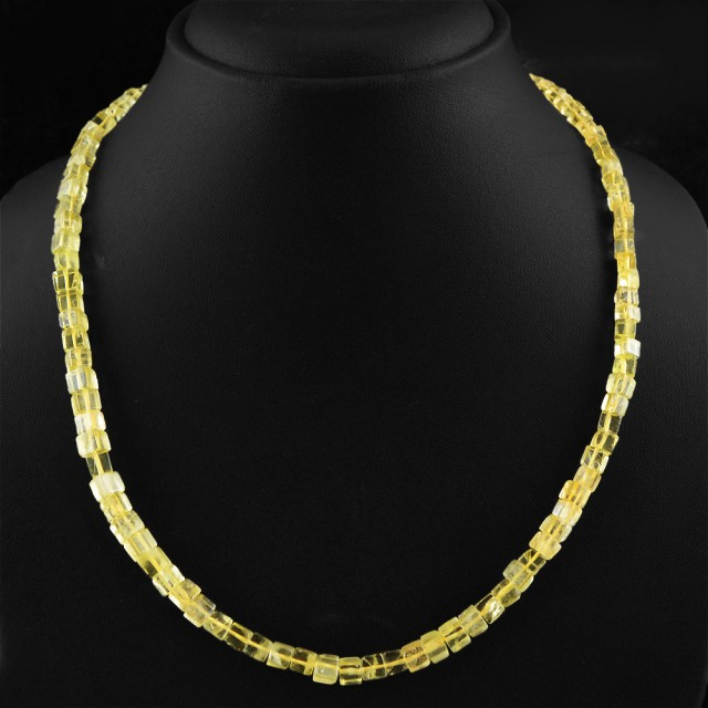 Natural 130.00 Cts Yellow Citrine Necklace