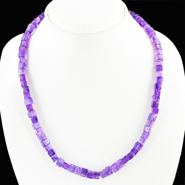 Natural 150.00 Cts Purple Amethyst Attractive Necklace