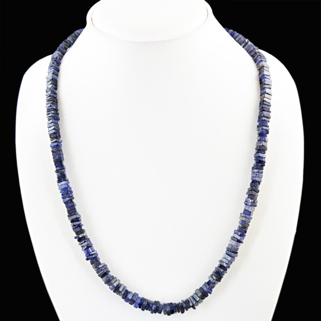 Natural 124.00 Cts Blue Tanzanite Necklace