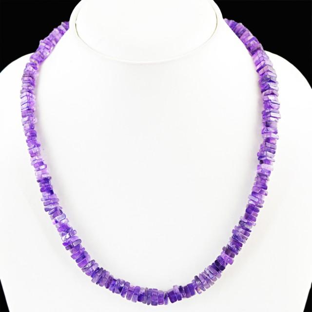 Natural 130.00 Cts Purple Amethyst Attractive Necklace