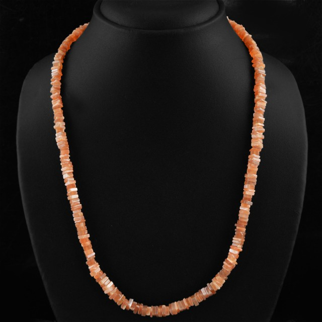 Natural 125.00 Cts Orange Agate Amazing Necklace