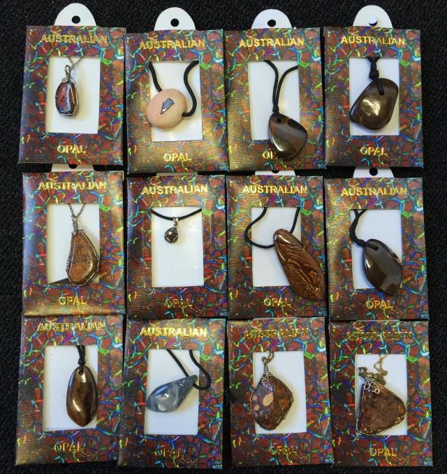 Parcel  Twelve Boulder Opal Pendants BU2533