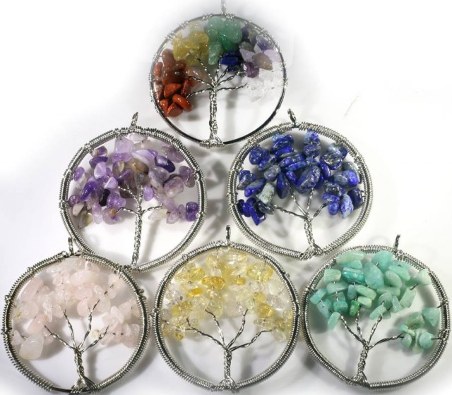 Six Tree of Life Gemstones jewelry JGG 187