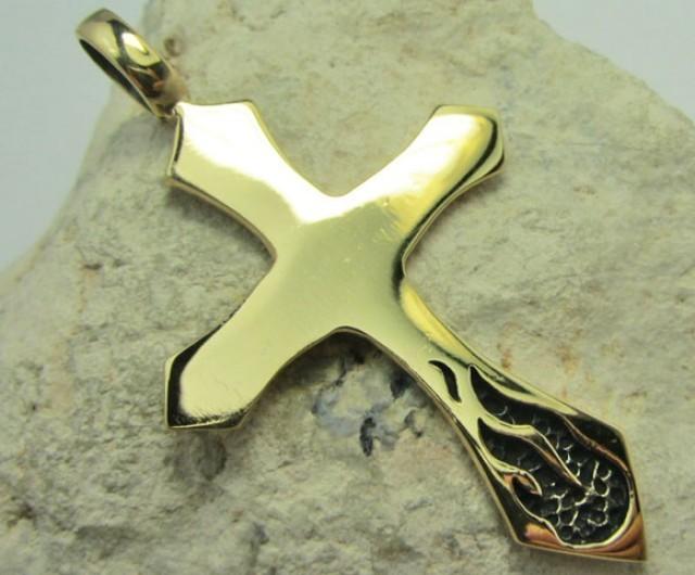 Cross pendant qt 679 bronze cross pendant qt 679 mozeypictures Images