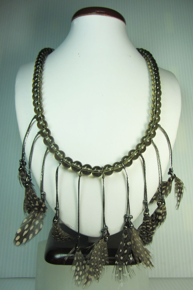FASHION NATURAL FEATHER STYLE NECKLACE QT247