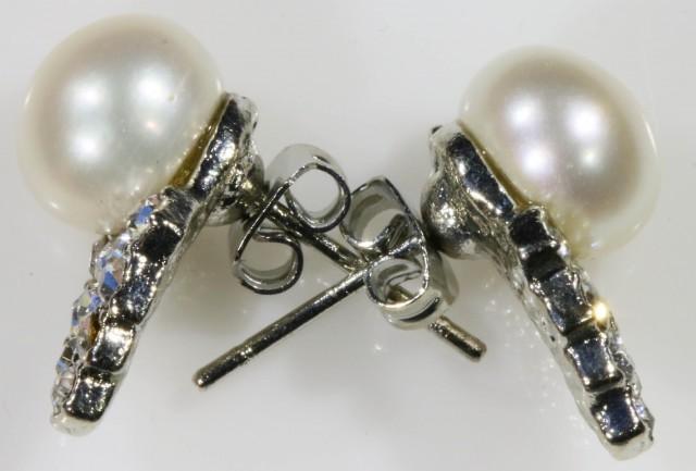 8 mm fresh water pearl earrings PPP1227