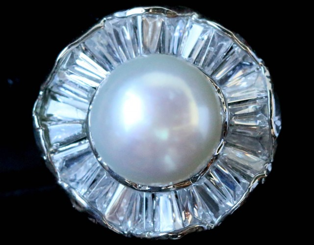 Ring size 6 fresh water pearl Ring PPP 1258