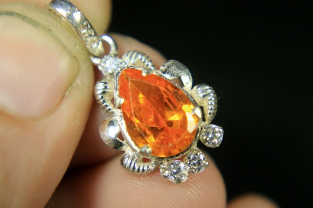 Wow Very Beautiful Hand Made Silver Pendant Collector's Gem
