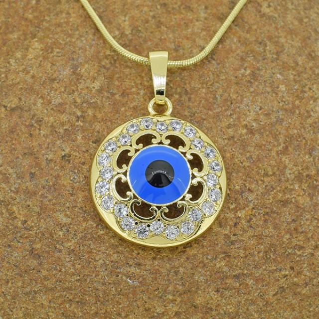 14kt Gold Filled 'Evil Eye' Pendant
