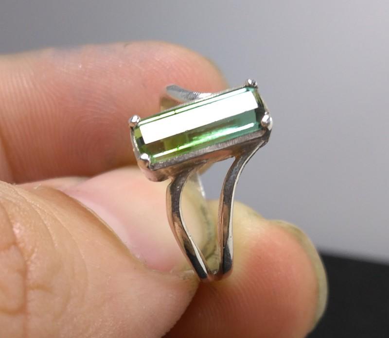 Wow Very Beautiful Hand Made Ring Of Blue Tourmaline