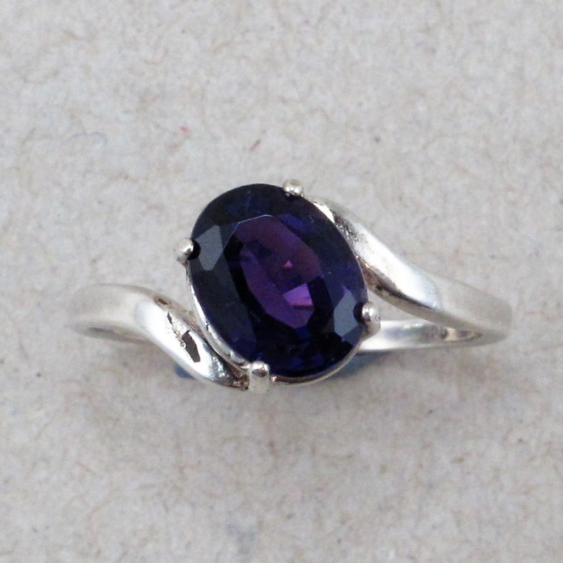 Delicate Deep Purple Amethyst set in Sterling Silver