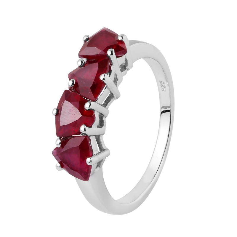 Ruby Genuine RING 925 Silver 36422