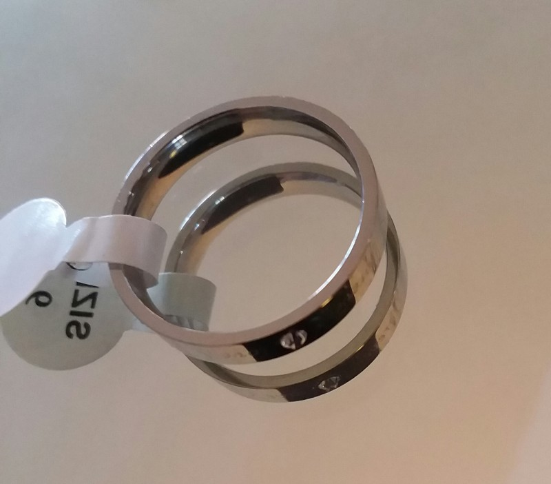 STAINLESS STEEL RING UNISEX COMMITMENT RING SZ 9