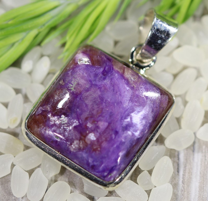 Beautiful natural Russian Charolite Pendant SU683