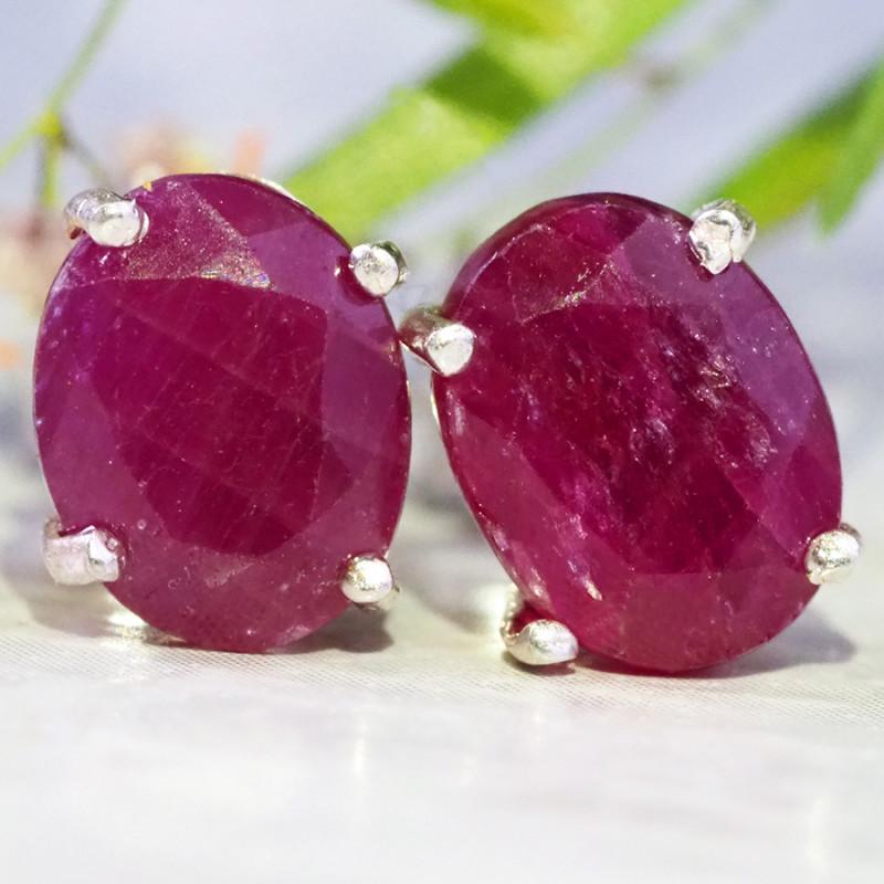 ruby  Silver Earrings   WS535