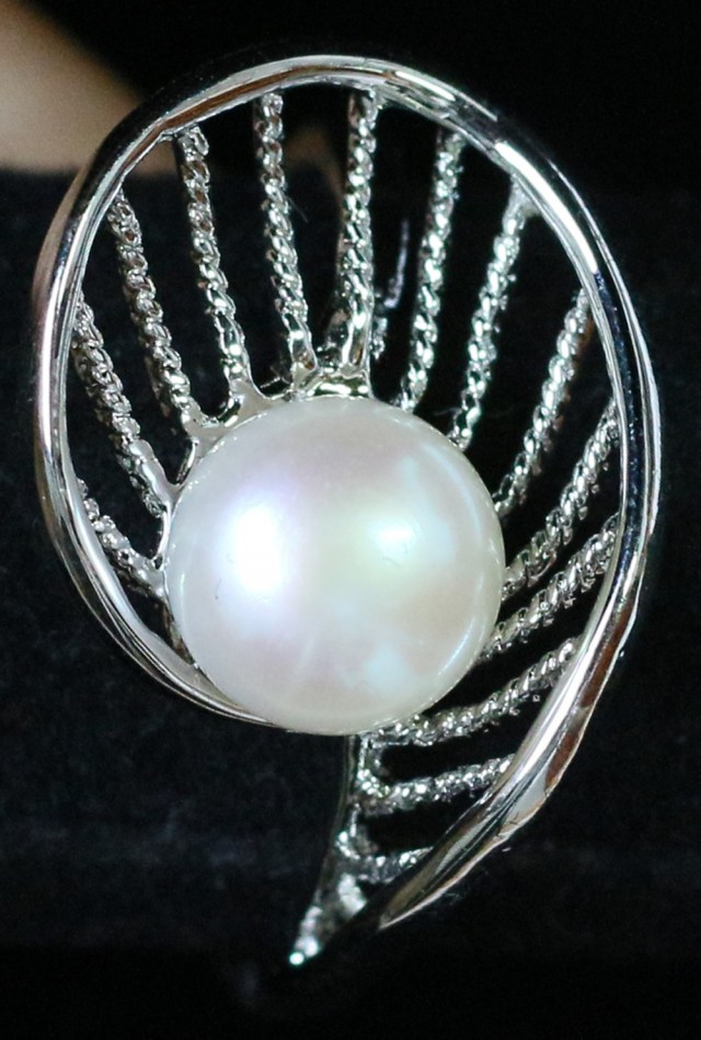 The Fan 8 mm Pearl Ring size us 8  PPP 842