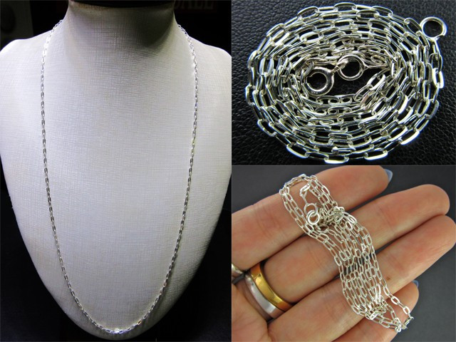 QUALITY  NECKLACE SILVER CHAIN 925 CHAIN 56CM CMT 27