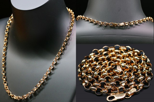 14.6 Grams 9K  ITALIANROSE GOLD CHAIN L414