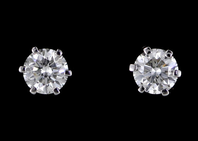 0.30 cts Australian 9ct Gold Classic Diamond Earrings .30 ct JAO 32