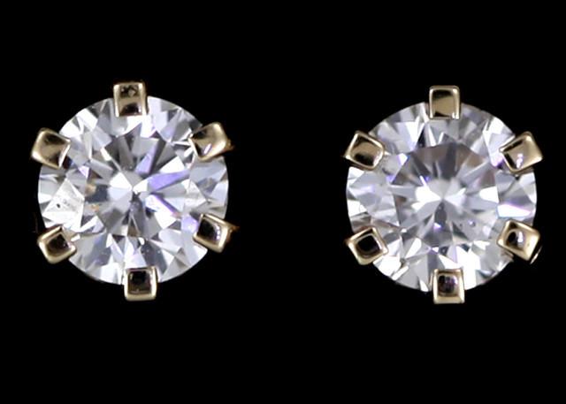 0.50 Cts Australian 9ct Gold Classic Diamond Earrings .50 ct JAO 38