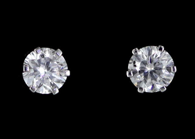 0.25 Cts Australian 9ct Gold Classic Diamond Earrings .25 ct JAO30