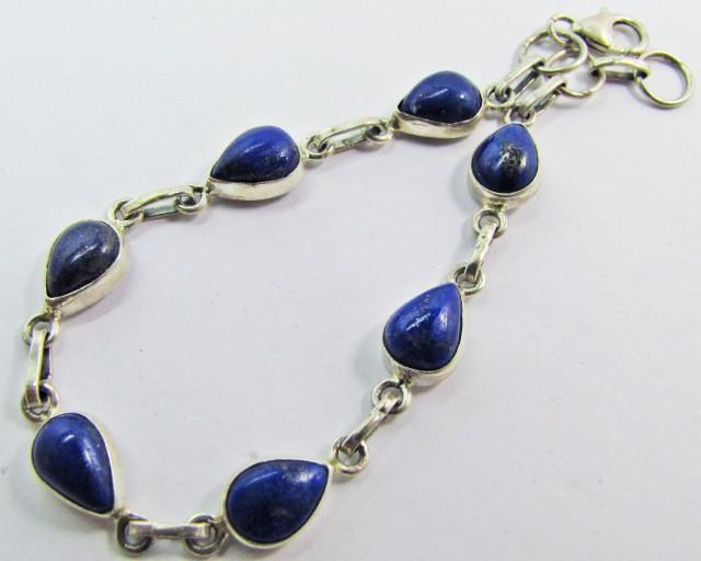 41Cts blue  lapis lazuli in silver Bracelet MJA 632