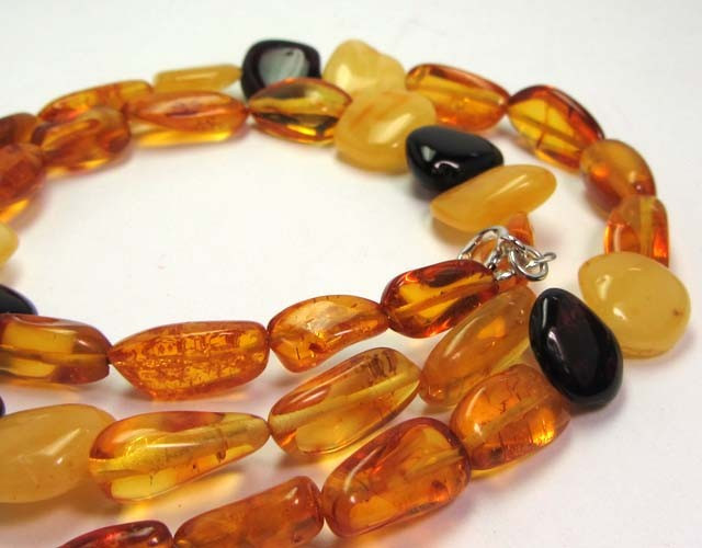 NATURAL BALTIC AMBER NECKLACE 44 CM MGMG 245