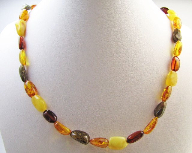 Beautiful Amber Necklace two tone MJA1130