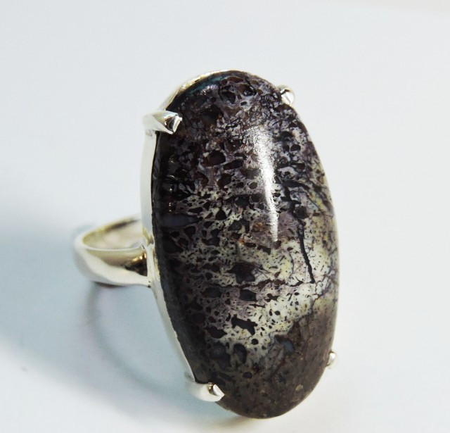 Unique Jasper in Silver ring size 8 JGG 115