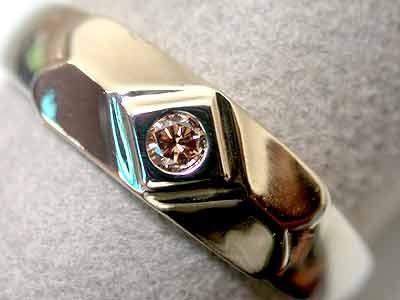 ARGYLE CONGAC DIAMOND 18K WHITE GOLD RING SIZE 6 K58