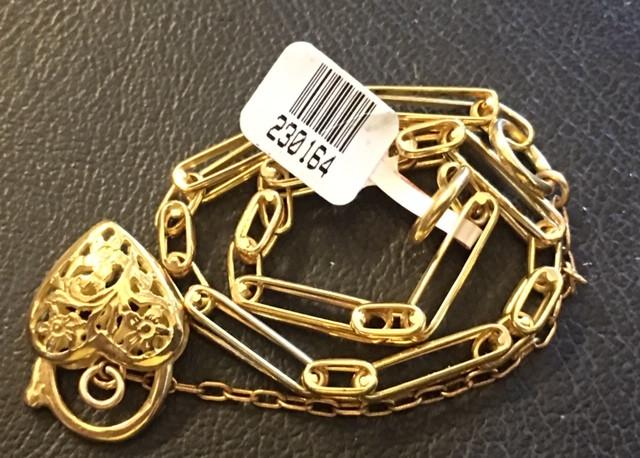 14.2 GRAMS 18K GOLD BRACELET 6 3/4 INCH LONG 14.2 grams GB6