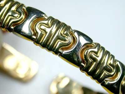 19 GRAMS 18K ITALIAN GOLD BRACELET, 19 GRAMS 2 TONE GOLD L377