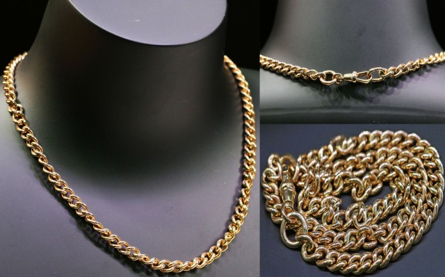 27.2 grams 9 K GOLD CURB  CHAIN ROSE GOLD L415
