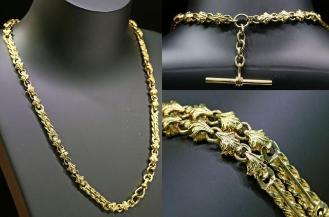 46.6 grams 9K ANTIQUE STYLE  GOLD CHAIN L420