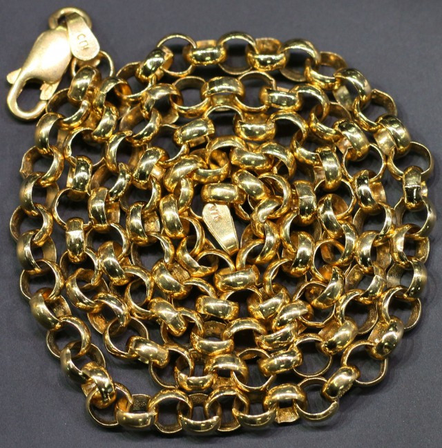 18.3 grams 9K GOLD CHAIN 50 CM LONG L363