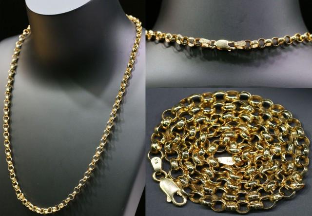 19 grams 9K ROUND GOLD CHAIN 50 CM LONG L361
