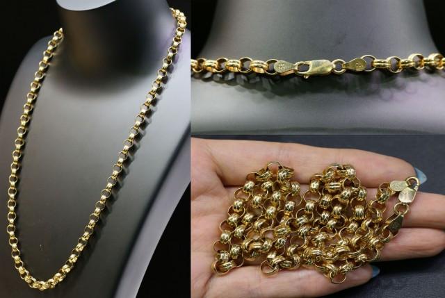 37.2 grams 9K ROUND GOLD CHAIN, 55 CM LONG L364