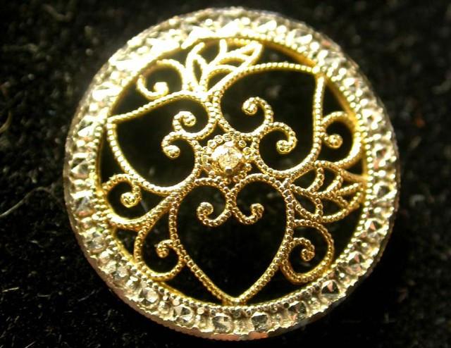 DIAMOND PENDANT-CALLIGRAPHY 10 k GOLD  [SJ872 ]